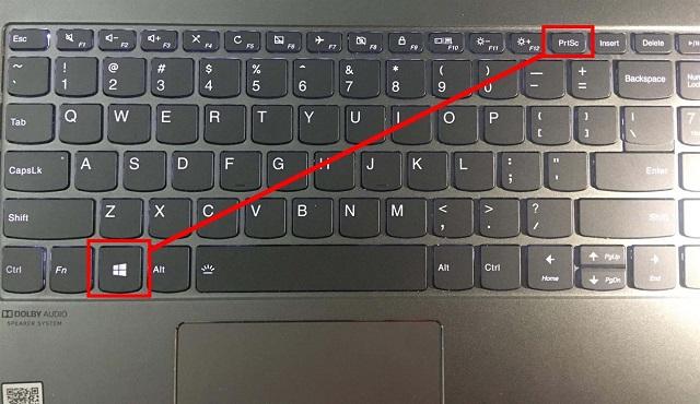 Nhấn tổ hợp phím Window và PrtSc