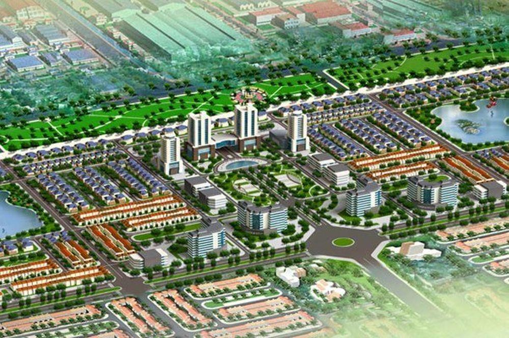 Vị trí khu đô thị mới V-Green City Phố Nối