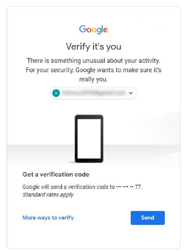Xác nhận tài khoản thông qua mã gửi về số điện thoại