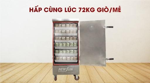 Tủ hấp giò chả 12 khay có thể hấp đến 72kg giò/mẻ